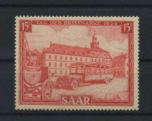 SAARLAND 1954 Nr 349 postfrisch (116247)