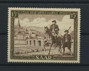 SAARLAND 1951 Nr 305 postfrisch (116256)