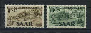 SAARLAND 1949 Nr 262-263 postfrisch (116258)