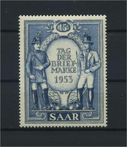 SAARLAND 1953 Nr 342 postfrisch (116275)