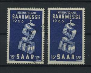 SAARLAND 1953 Nr 341 postfrisch (116277)