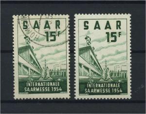 SAARLAND 1954 Nr 348 postfrisch (116278)