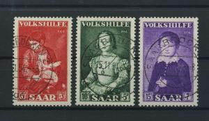 SAARLAND 1954 Nr 354-356 gestempelt (116284)