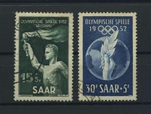 SAARLAND 1952 Nr 314-315 gestempelt (116291)
