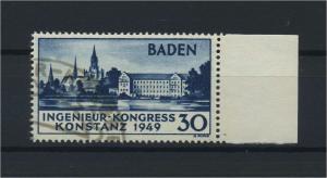 FRZ.ZONE BADEN 1949 Nr 46I gestempelt (116953)