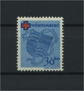 FRZ.ZONE WUERTTEMBERG 1949 Nr 42 postfrisch (116954)