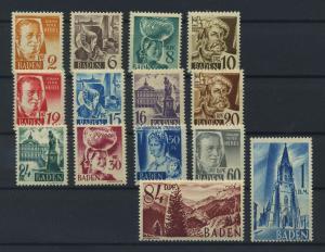 FRZ.ZONE BADEN 1948 Nr 14-27 postfrisch (116955)