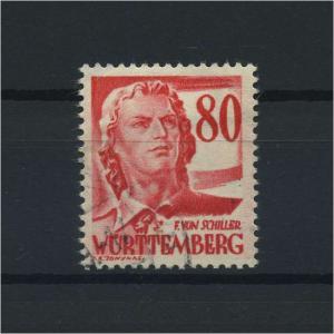 FRZ.ZONE WUERTTEMBERG 1948 Nr 36 gestempelt (116958)