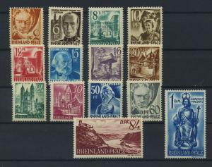 FRZ.ZONE -RH.-PFALZ 1948 Nr 16-29 postfrisch (116961)