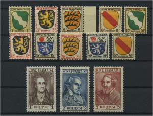 FRZ.ZONE ALLGEMEIN 1945 Nr 1-13 postfrisch (116962)