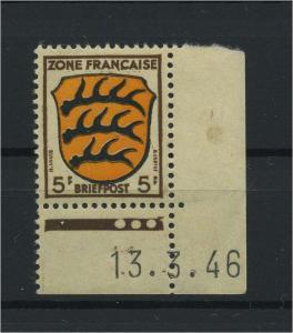 FRZ.ZONE 1945 Nr 3 Bru postfrisch (116963)