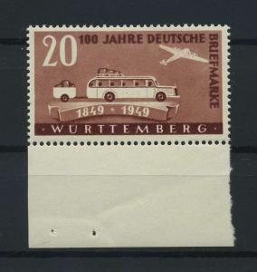 FRZ.ZONE WUERTTEMBERG 1949 Nr 50 postfrisch (116964)