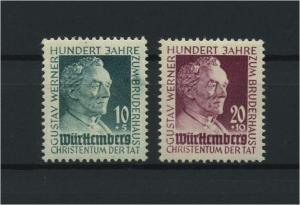 FRZ.ZONE WUERTTEMBERG 1949 Nr 47-48 postfrisch (116965)