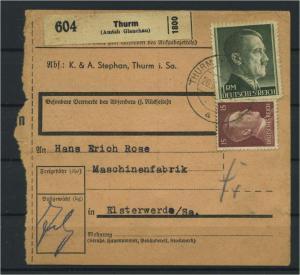Paketkarte 1943 THURM siehe Beschreibung (117520)