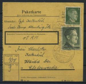 Paketkarte 1943 LEINAWALD siehe Beschreibung (117521)