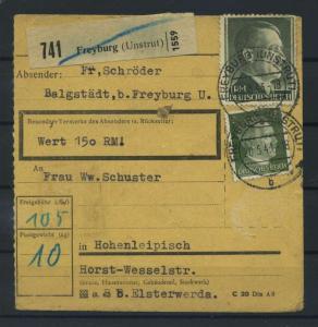 Paketkarte 1943 FREYBURG siehe Beschreibung (117531)