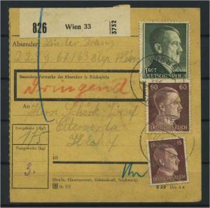 Paketkarte 1943 WIEN 33 siehe Beschreibung (117532)