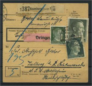Paketkarte 1943 NAUMBURG siehe Beschreibung (117534)