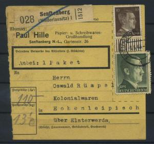 Paketkarte 1943 SENFTENBERG siehe Beschreibung (117543)