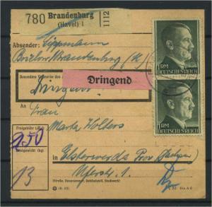 Paketkarte 1943 BRANDENBURG siehe Beschreibung (117546)