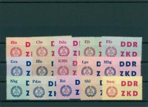 DDR 1963 ZKD Nr 1-15 postfrisch (202667)
