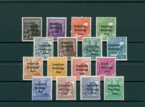SBZ 1948 Nr 182-197 postfrisch (202722)