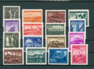 BES. II. WK. LAIBACH 1945 Nr 45-60 postfrisch (202747)