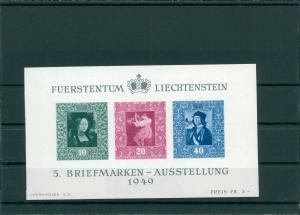 LIECHTENSTEIN 1949 Bl.5 postfrisch (202748)