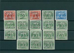 NIEDERLANDE 1940 Nr 357-374 Haftstelle/Falz (202763)