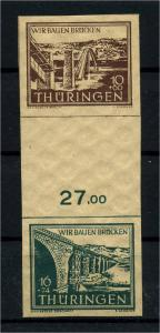 SBZ 1946 ZD SZd1 postfrisch (112894)