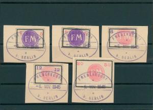 FREDERSDORF 1945 Nr Sp236-240 gestempelt (400445)