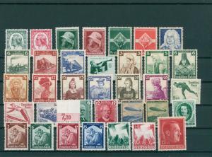 DEUTSCHES REICH Slg. aus 1934-1945 postfrisch/MNH (203844)