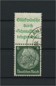 DEUTSCHES REICH 1940 ZD Nr S207 gestempelt (117596)