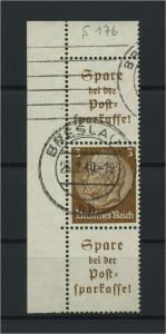 DEUTSCHES REICH 1939 ZD Nr S176 gestempelt (117622)