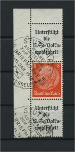 DEUTSCHES REICH 1936 ZD Nr S134 gestempelt (117656)