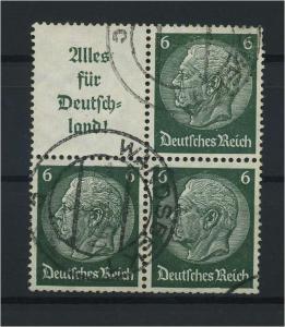 DEUTSCHES REICH 1936 ZD Nr S139 gestempelt (117658)