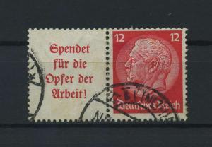 DEUTSCHES REICH 1934 ZD Nr W61 gestempelt (117669)