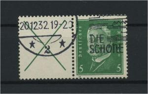 DEUTSCHES REICH 1928 ZD Nr W27.1 gestempelt (117676)