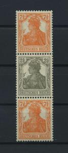DEUTSCHES REICH 1917 ZD Nr S14b postfrisch (117677)