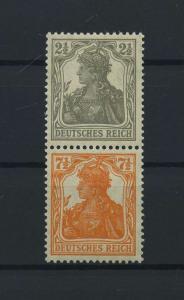 DEUTSCHES REICH 1917 ZD Nr S11b postfrisch (117684)
