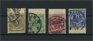 DEUTSCHES REICH 1889 Nr 45-48 gestempelt (117686)