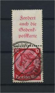 DEUTSCHES REICH 1933 ZD Nr S102 gestempelt (117695)