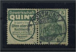 DEUTSCHES REICH 1911 ZD Nr W2.3 gestempelt (117705)