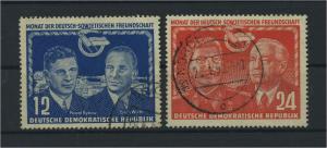 DDR 1951 Nr 296-297 gestempelt (117791)