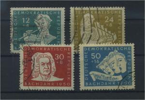 DDR 1950 Nr 256-259 gestempelt (117802)