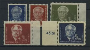 DDR 1950 Nr 251-255 postfrisch (117806)