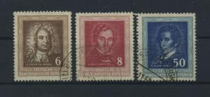 DDR 1952 Nr 308-310 gestempelt (117807)