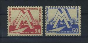 DDR 1951 Nr 282-283 postfrisch (117808)