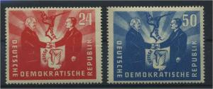 DDR 1951 Nr 284-285 postfrisch (117811)
