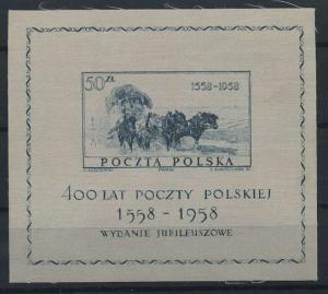 POLEN 1958 Bl.22 postfrisch (117876)